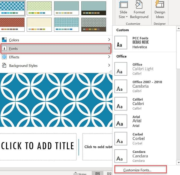 creating blog and social media images in PowerPoint