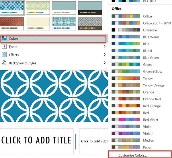 graphic design in PowerPoint