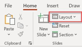 change the slide layout in PowerPoint