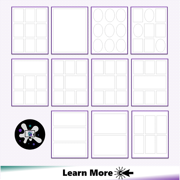 Comic Book Templates for Low Content Books