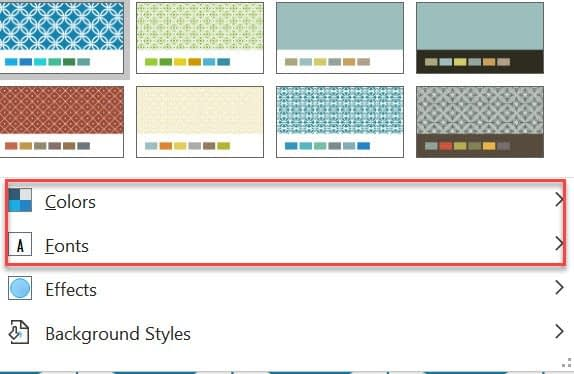 how to change the color and font in PowerPoint